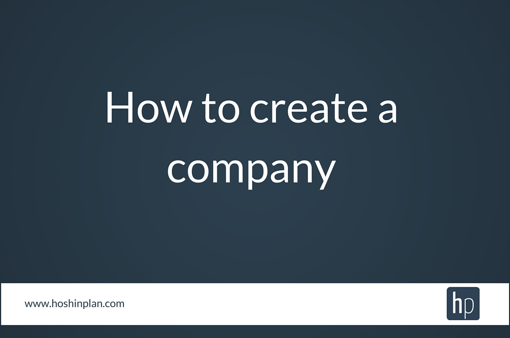 How to create a company